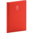 Týdenní diář Capys 2021, červený, 15 × 21 cm