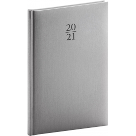 Weekly diary Capys silver 2021, 15 × 21 cm