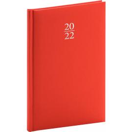 Týdenní diář Capys 2022, červený, 15 × 21 cm