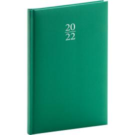 Týdenní diář Capys 2022, zelený, 15 × 21 cm