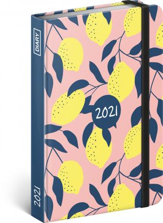 Týdenní diář Citron 2021, 11 × 16 cm