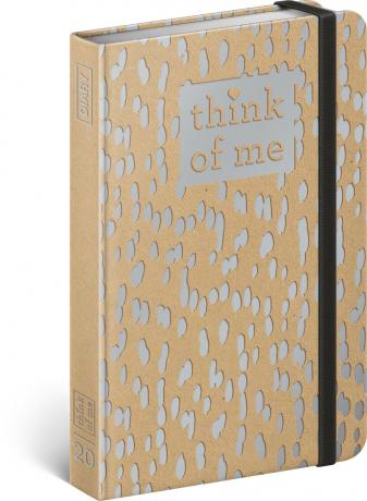 Týdenní diář Craft Kapky – Think of me 2020, 11 × 16 cm