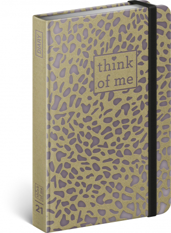 Týdenní diář Craft Puma – Think of me 2021, 11 × 16 cm