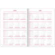 Weekly diary Dado 2020, red-black, 15 × 21 cm