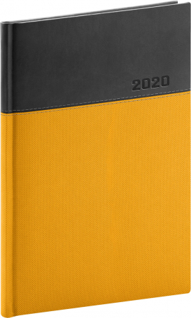 Weekly diary Dado 2020, yellow-black, 15 × 21 cm