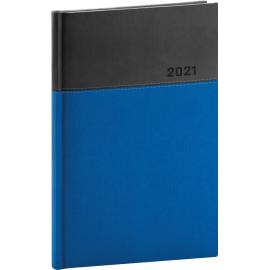 Týdenní diář Dado 2021, modročerný, 15 × 21 cm