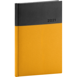 Weekly diary Dado yellow-black 2021, 15 × 21 cm