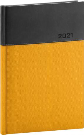 Týdenní diář Dado 2021, žlutočerný, 15 × 21 cm