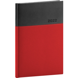 Týdenní diář Dado 2022, červenočerný, 15 × 21 cm