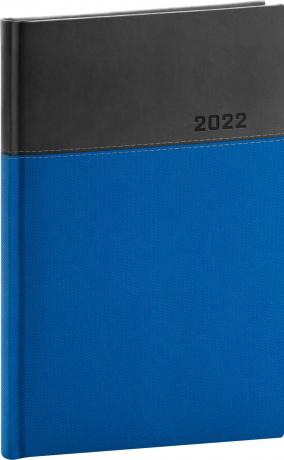 Týdenní diář Dado 2022, modročerný, 15 × 21 cm