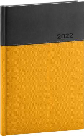 Týdenní diář Dado 2022, žlutočerný, 15 × 21 cm