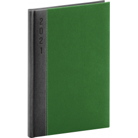 Weekly diary Dakar grey-green 2021, 15 × 21 cm