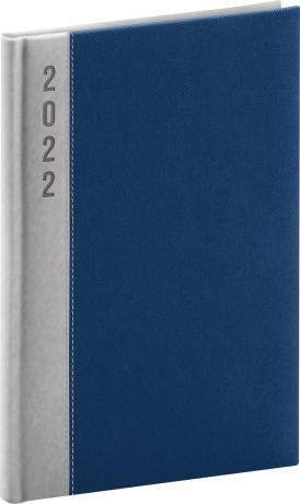 Týdenní diář Dakar 2022, stříbrnomodrý, 15 × 21 cm