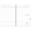 Týdenní diář Davos 2020, šedomodrý, 15 × 21 cm
