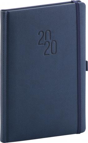 Týdenní diář Diamante 2020, modrý, 15 × 21 cm