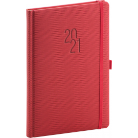 Weekly diary Diamante red 2021, 15 × 21 cm