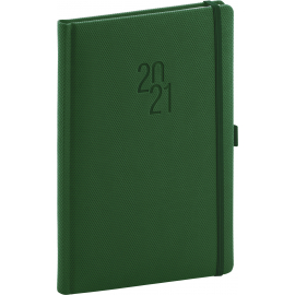 Weekly diary Diamante green 2021, 15 × 21 cm