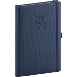 Týdenní diář Diamante 2022, modrý, 15 × 21 cm