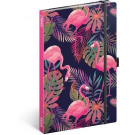 Týdenní diář Flamingos 2021, 13 × 21 cm