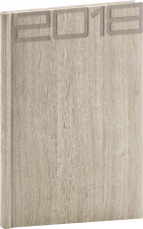 Týdenní diář Forest 2018, krémový, 15 x 21 cm, A5