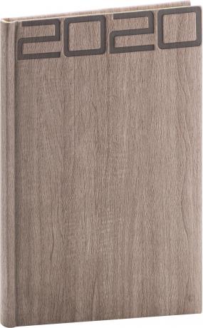 Týdenní diář Forest 2020, hnědý, 15 × 21 cm