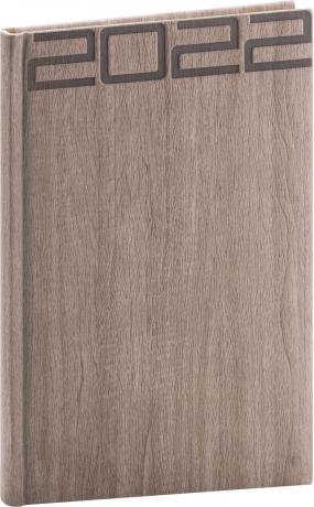 Týdenní diář Forest 2022, hnědý, 15 × 21 cm