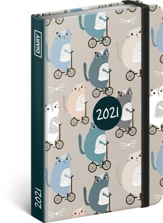 Týdenní diář Kočky 2021, 11 × 16 cm