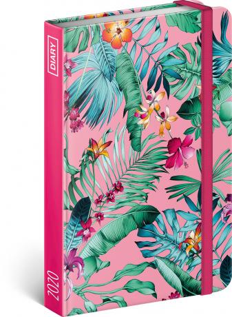 Týdenní diář Květiny 2020, 11 × 16 cm