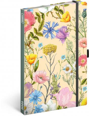Týdenní diář Květiny 2021, 13 × 21 cm