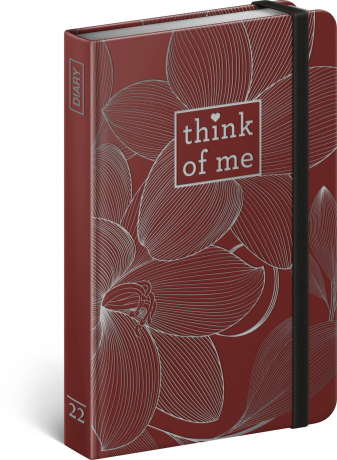 Týdenní diář Květy – Think of me 2022, 11 × 16 cm