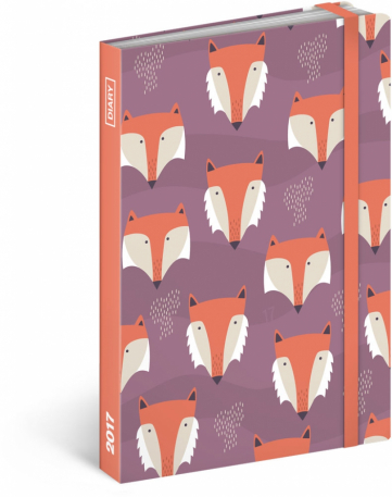 Weekly diary Foxes 2017, 10,5 x 15,8 cm