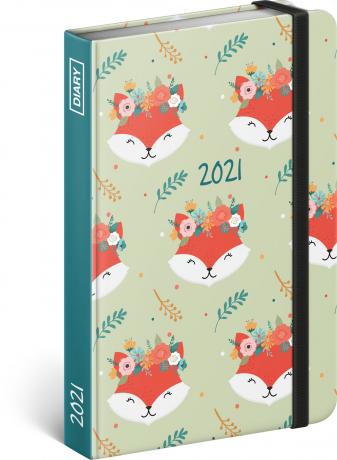 Týdenní diář Lišky 2021, 11 × 16 cm
