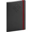 Týdenní diář Matra 2022, černočervený, 15 × 21 cm