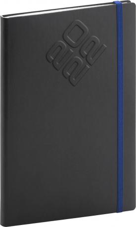 Týdenní diář Matra 2022, černomodrý, 15 × 21 cm