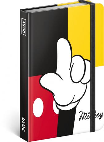 Týdenní diář Mickey 2019, 10,5 x 15,8 cm