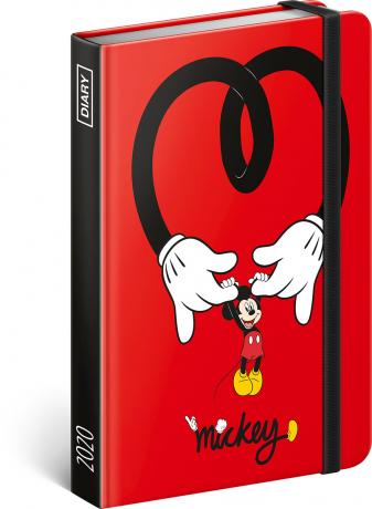 Týdenní diář Mickey 2020, 11 × 16 cm