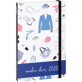 Weekly diary Fashion diary 2020, 13 × 21 cm