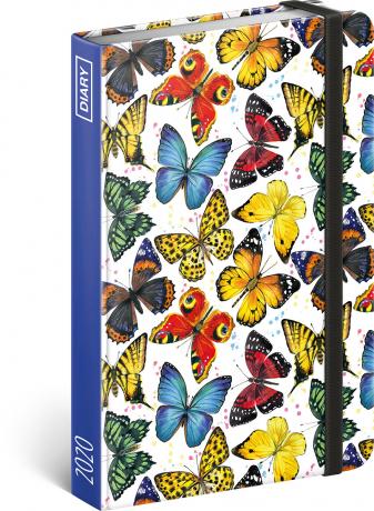 Týdenní diář Motýli 2020, 11 × 16 cm