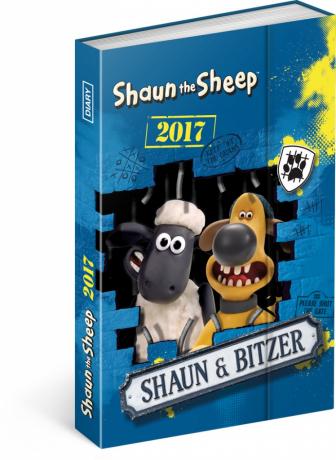 Týdenní diář Ovečka Shaun 2017, 10,5 x 15,8 cm