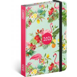 Weekly diary Flamingos 2021, 11 × 16 cm