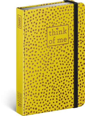 Týdenní diář Puntíky – Think of me 2021, 11 × 16 cm