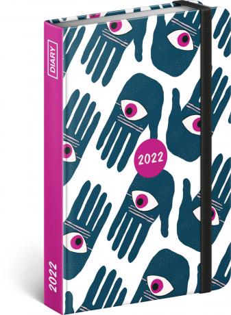 Týdenní diář Ruce 2022, 11 × 16 cm