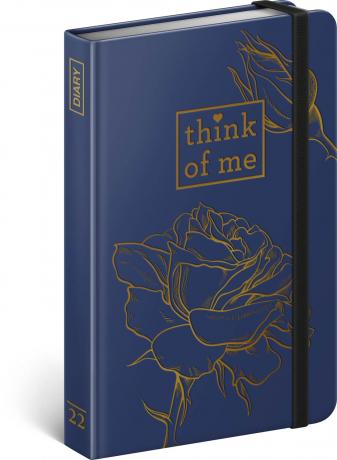 Týdenní diář Růže – Think of me 2022, 11 × 16 cm