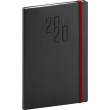 Weekly diary Soft black-red 2020, 15 × 21 cm