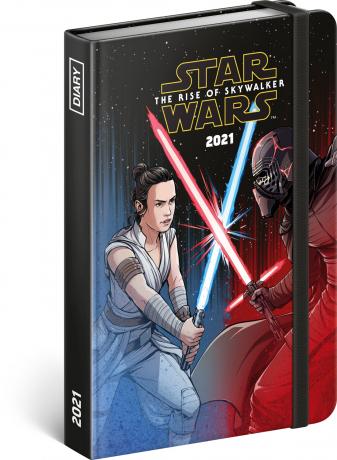Týdenní diář Star Wars – Battle 2021, 11 × 16 cm