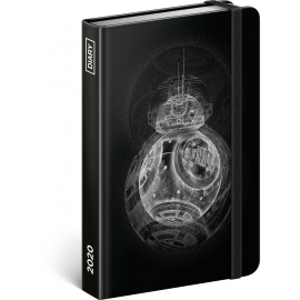 Týdenní diář Star Wars – BB8 2020, 11 × 16 cm