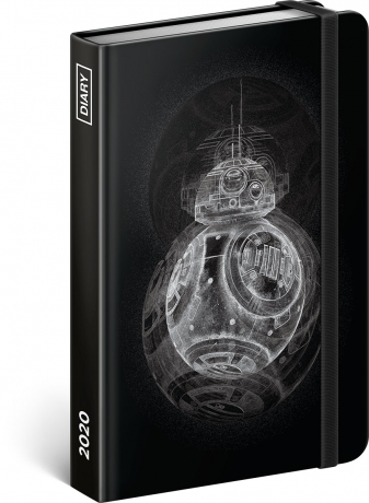 Weekly diary Star Wars – BB8 2020, 11 × 16 cm