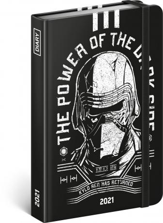Týdenní diář Star Wars – Kylo Ren 2021, 11 × 16 cm