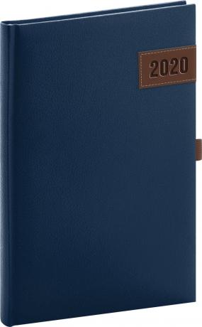 Týdenní diář Tarbes 2020, modrý, 15 × 21 cm