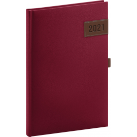 Weekly diary Tarbes red 2021, 15 × 21 cm